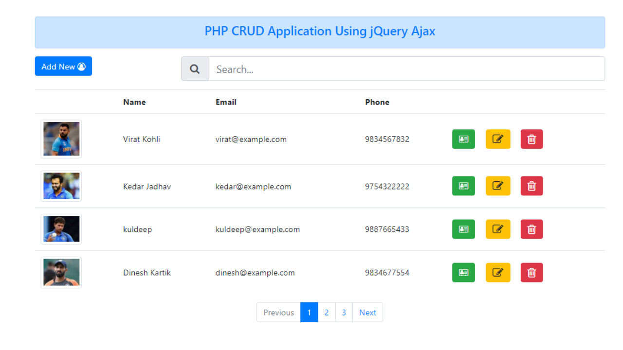 Php Pdo Crud With Ajax Jquery And Bootstrap Techbowl